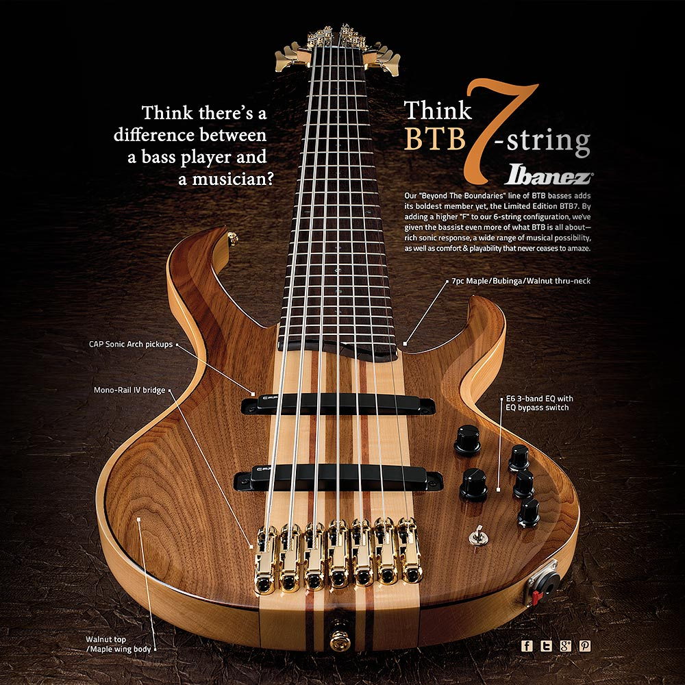 IBANEZ 7-STRING BASS AD